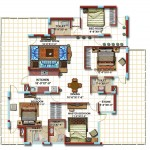 4 BHK First Floor Furniture Plan